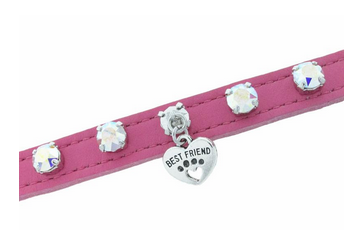 XSMALL Pink Dog Collar-Jewelry